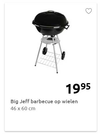 BBQ Time Compacte Barbecue Aanbieding bij Action