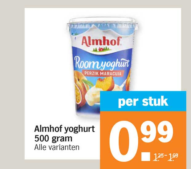 Albert Heijn Almhof Yoghurt 500 Gram