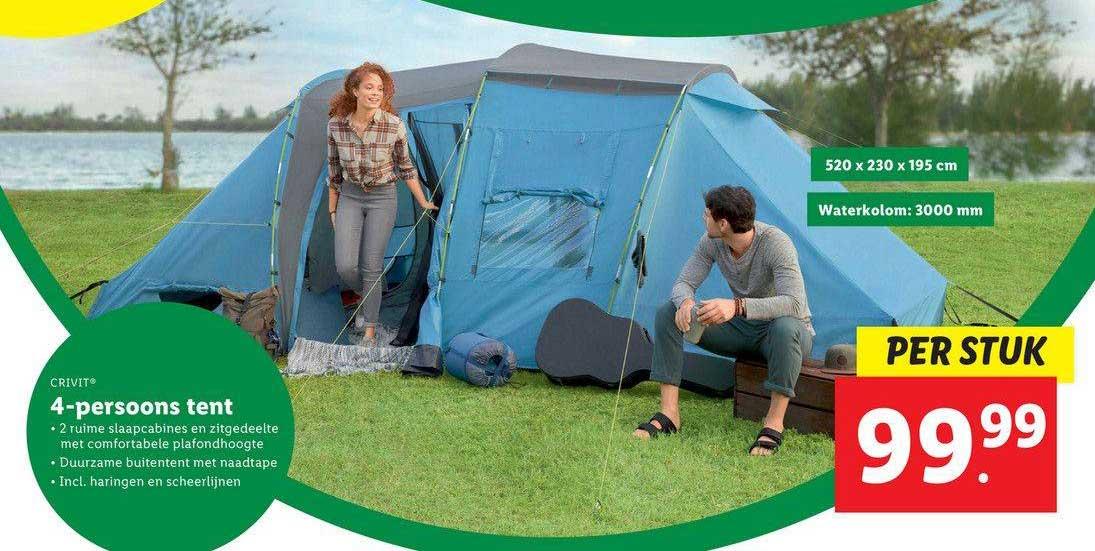 Lidl Shop Crivit 4-Persoons Tent
