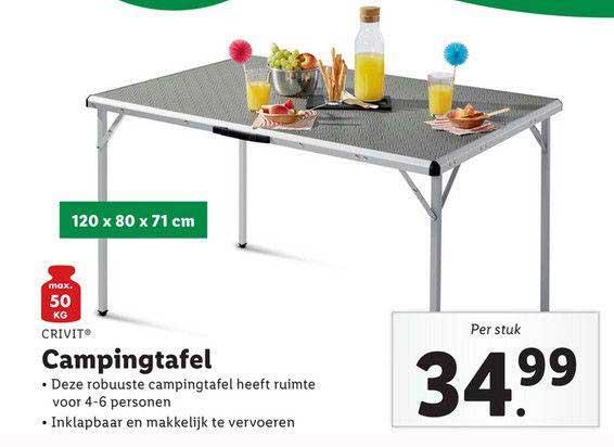 Lidl Shop Crivit Campingtafel