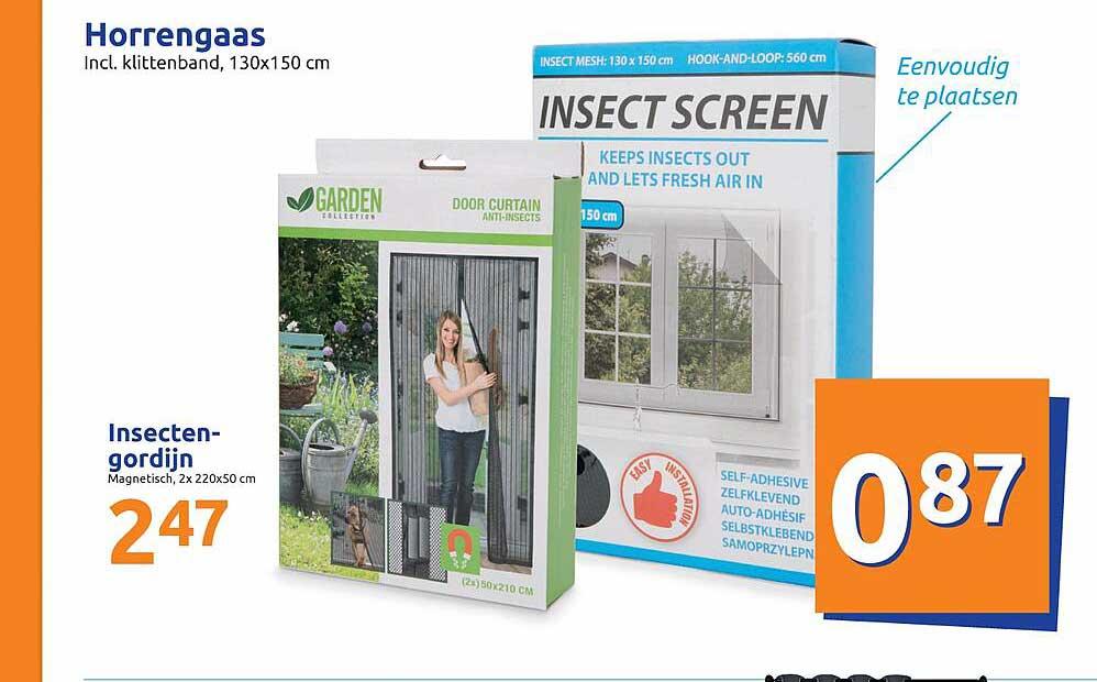 Action Horrengaas Of Insectengordijn