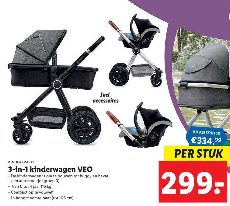 Lidl Shop Kinderkraft 3-in1 Kinderwagen VEO