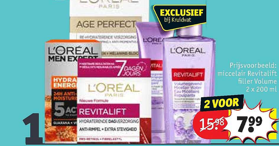 Kruidvat L'Oréal Paris Miccelair Revitalift Filler Volume