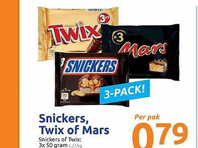 Action Snickers, Twix Of Mars