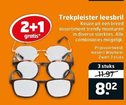 Trekpleister Trekpleister Leesbril 2+1 Gratis