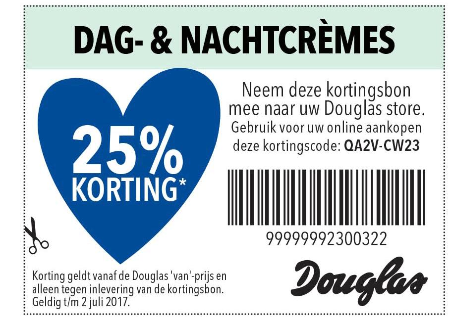 Douglas Dag- & Nachtcrèmes: 25% Korting