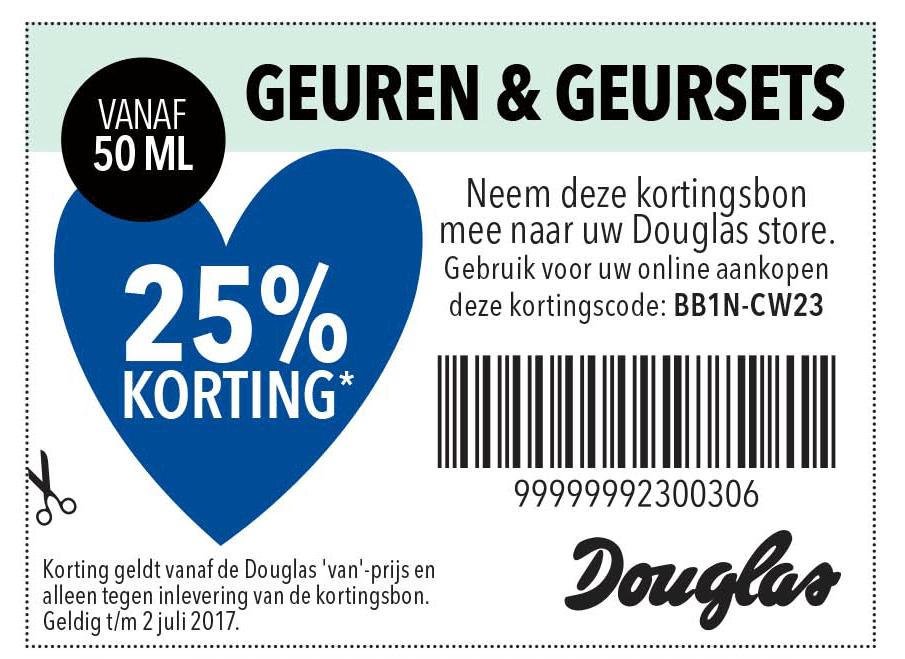 Douglas Geuren & Geursets: 25% Korting