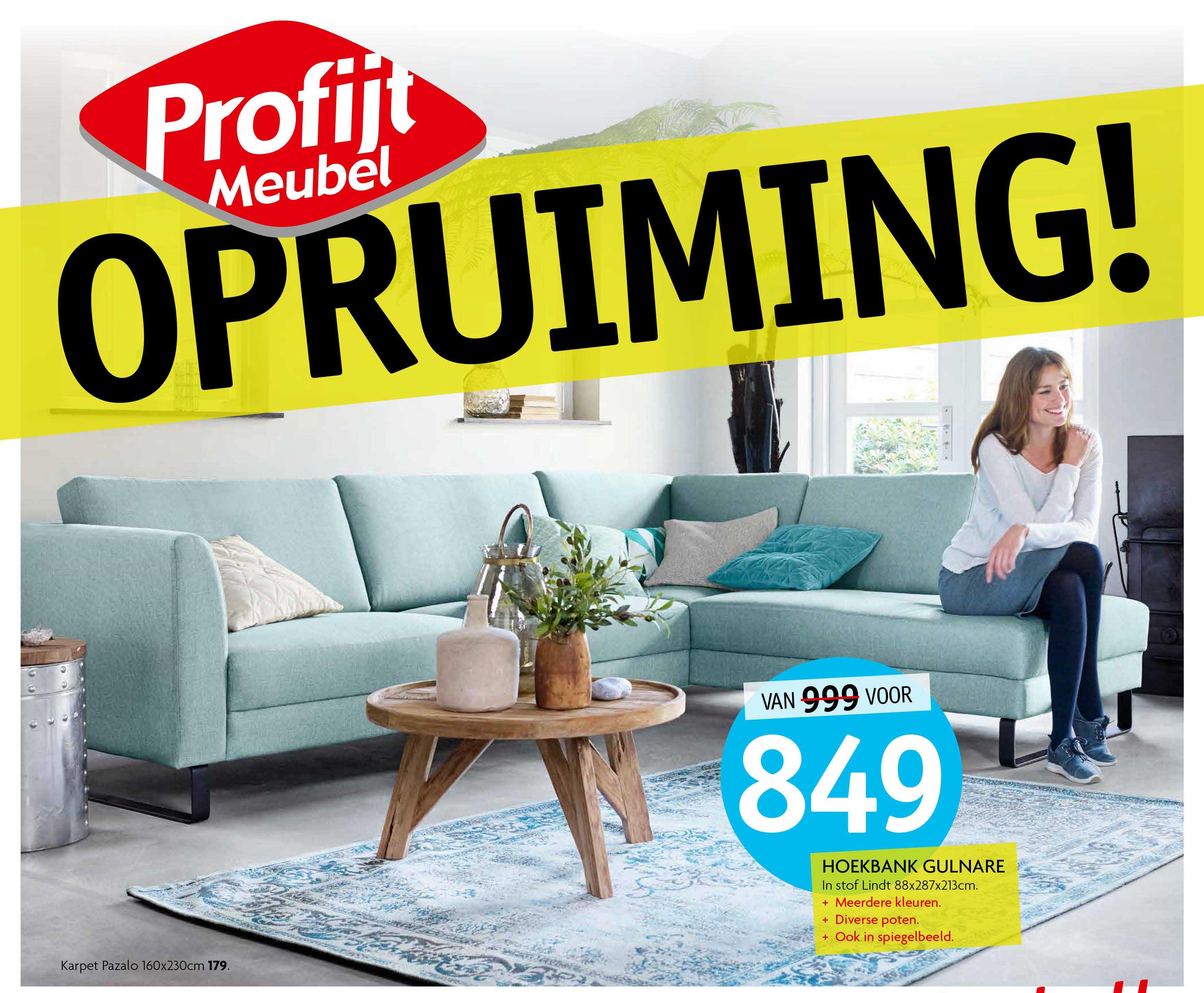 Profijt Meubel Hoekbank Gulnare