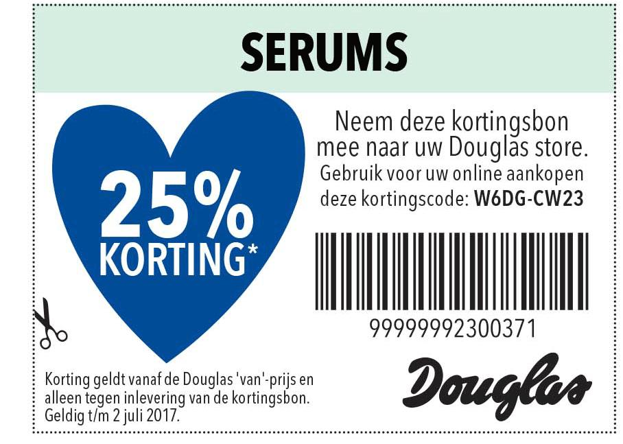 Douglas Serums: 25% Korting