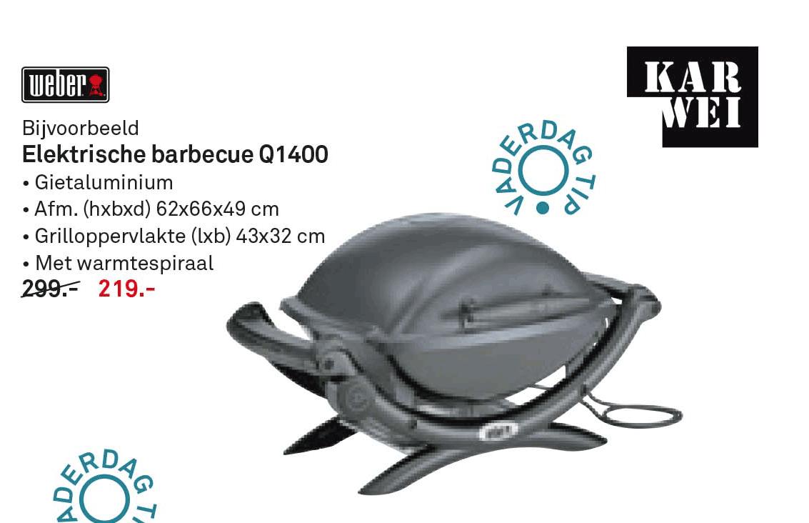 Karwei Weber Elektrische Barbecue Q1400