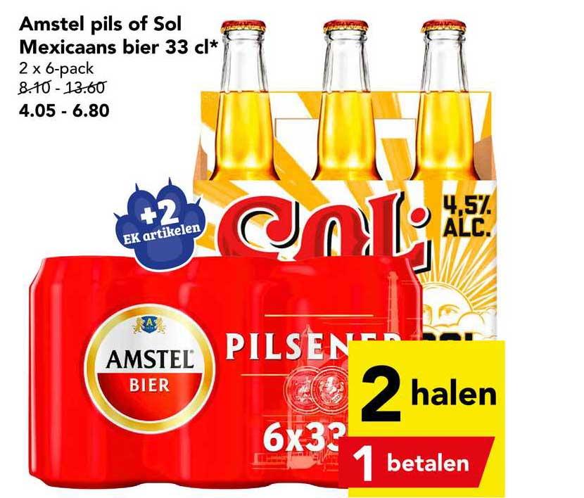 DEEN Amstel Pils Of Sol Mexicaans Bier 33 Cl