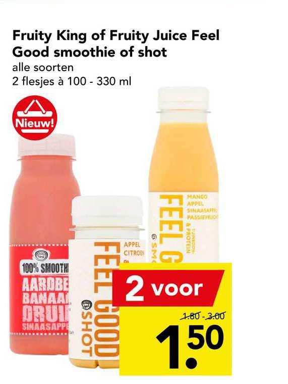 DEEN Fruity King Of Fruity Juice Feel Good Smoothie Of Shot