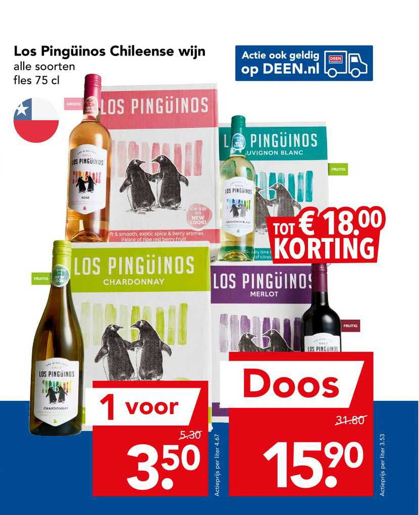 DEEN Los Pingüinos Chileense Wijn Tot € 18.⁰⁰ Korting