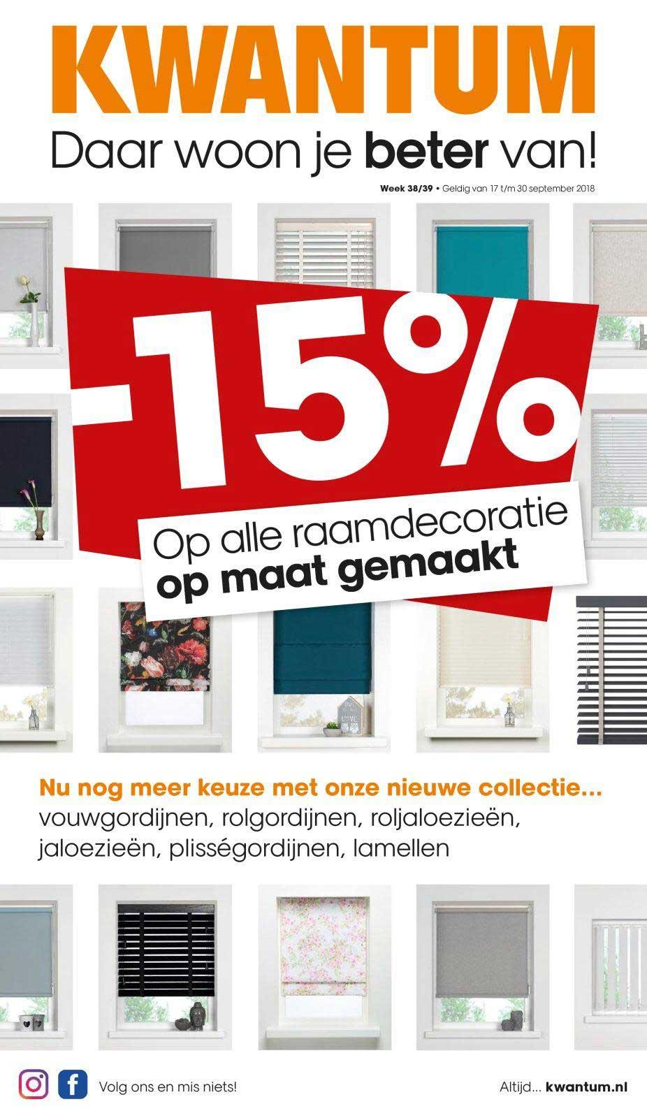 Kwantum -15% Op Alle Raamdecoratie Op Maat Gemaakt