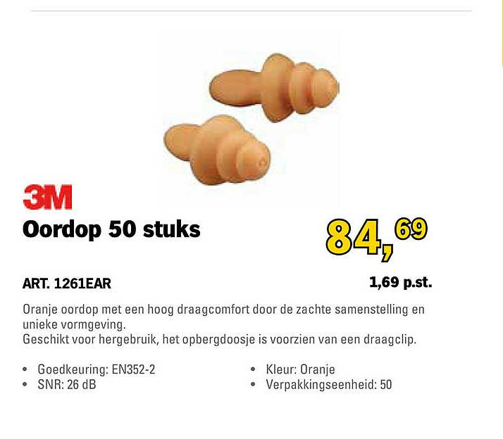 Toolspecial 3M Oordop 50 Stuks