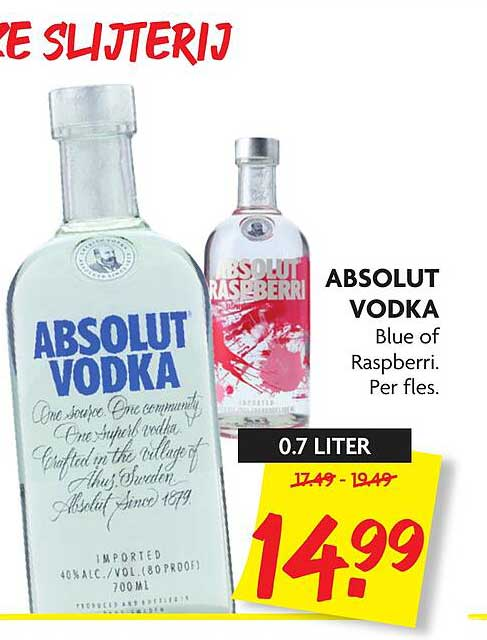 DekaMarkt Absolut Vodka Blue Of Raspberri