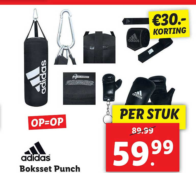 Lidl Shop Adidas Boksset Punch €30.- Korting