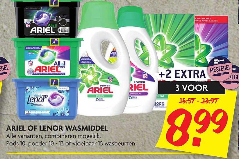 DekaMarkt Ariel Of Lenor Wasmiddel