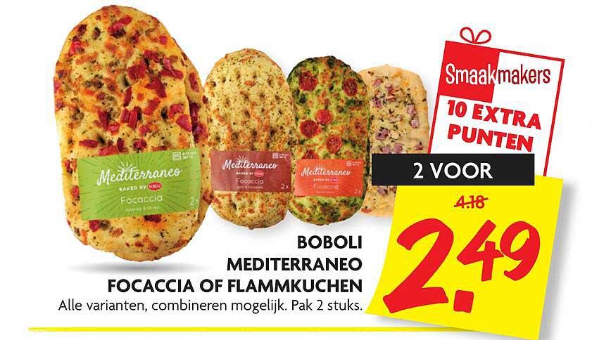 DekaMarkt Boboli Mediterraneo Focaccia Of Flammkuchen