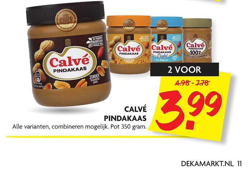 DekaMarkt Calvé Pindakaas