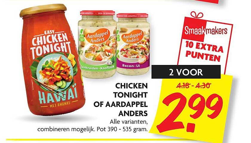 DekaMarkt Chicken Tonight Of Aardappel Anders