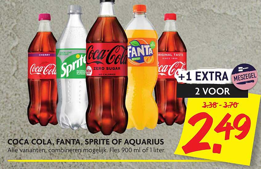 DekaMarkt Coca Cola, Fanta, Sprite Of Aquarius