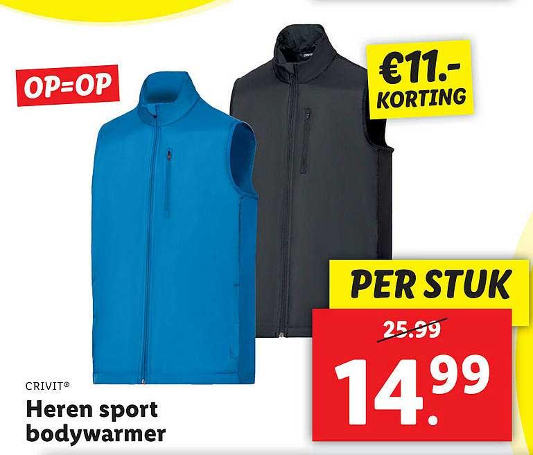 Lidl Shop Crivit® Heren Sport Bodywarmer €11.- Korting