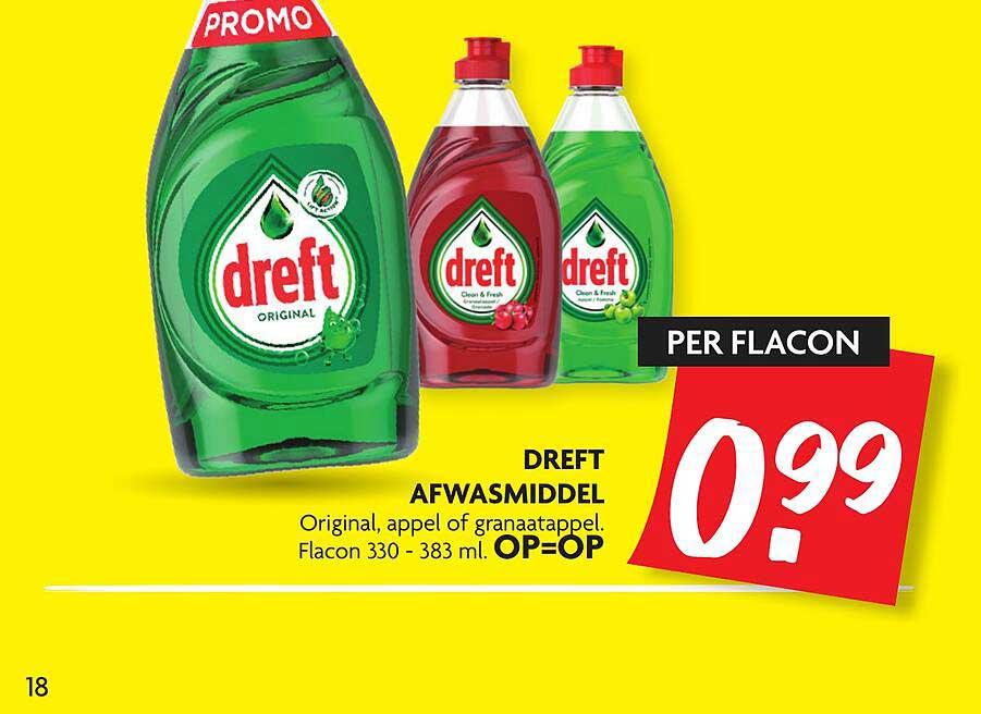 DekaMarkt Dreft Afwasmiddel Original, Appel Of Granaatappel