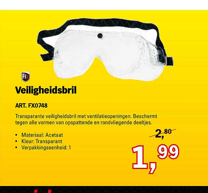 Toolspecial Fix Veiligheidsbril