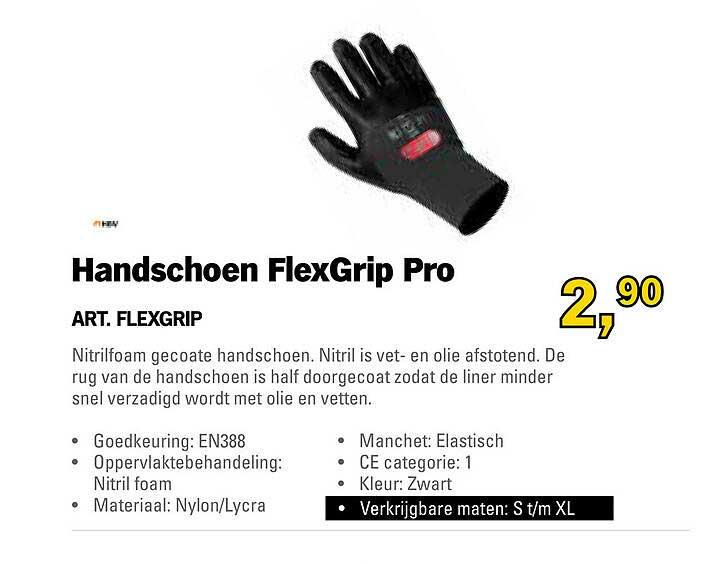 Toolspecial Handschoen FlexGrip Pro