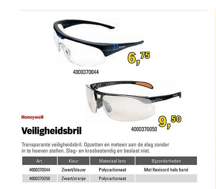 Toolspecial Honeywell Veiligheidsbril