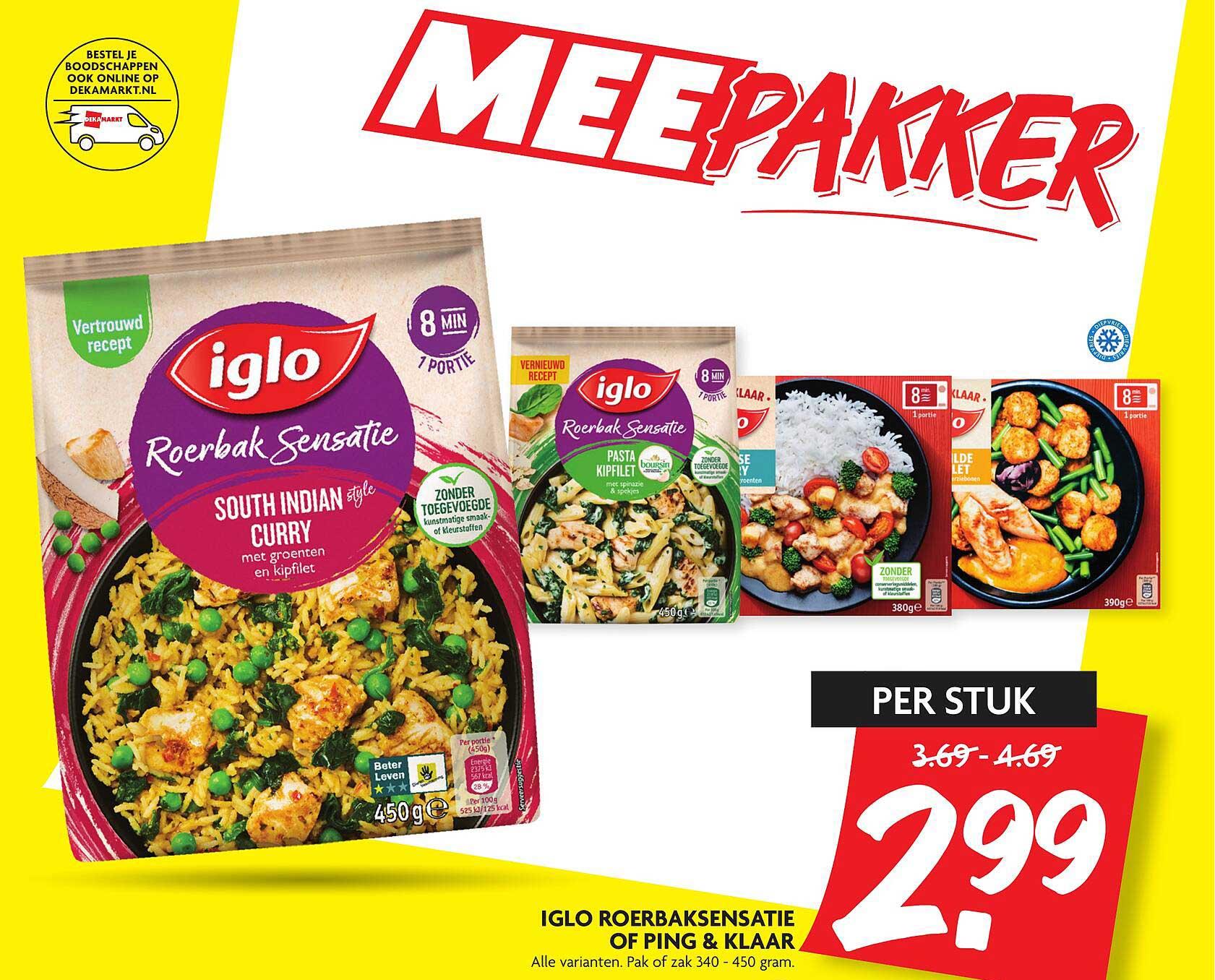 DekaMarkt Iglo Roerbaksensatie Of Ping & Klaar