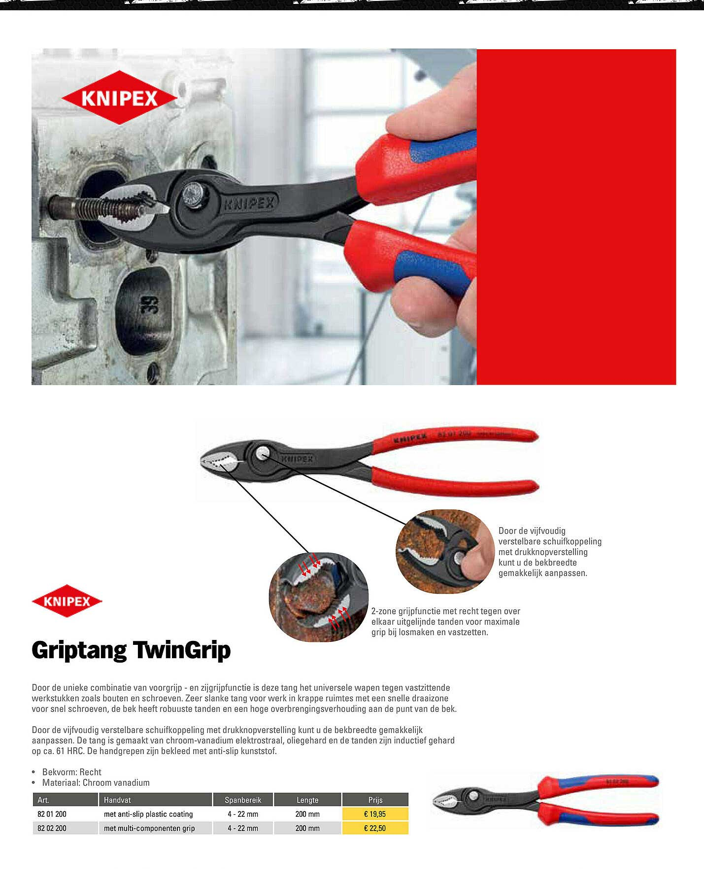 Toolspecial Knipex Griptang TwinGrip