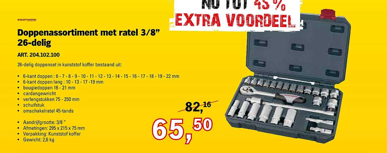 Toolspecial Kraftwerk Doppenassortiment Met Ratel 3-8