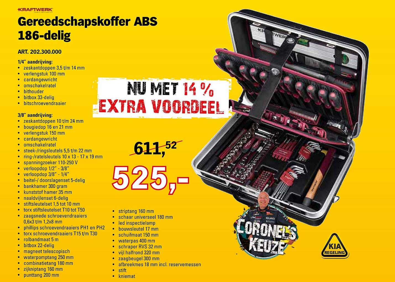 Toolspecial Kraftwerk Gereedschapskoffer ABS 186-Delig
