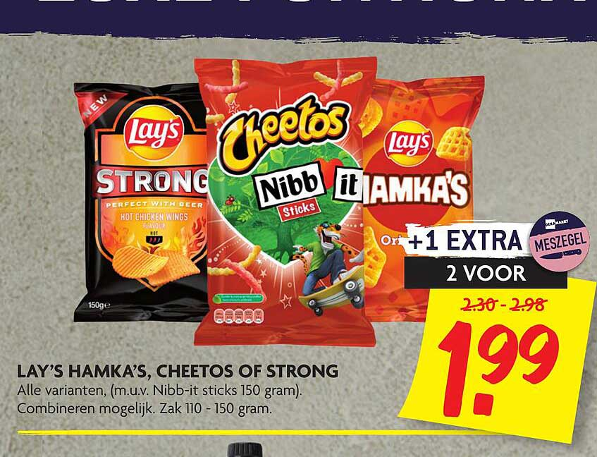 DekaMarkt Lay's Hamka's, Cheetos Of Strong