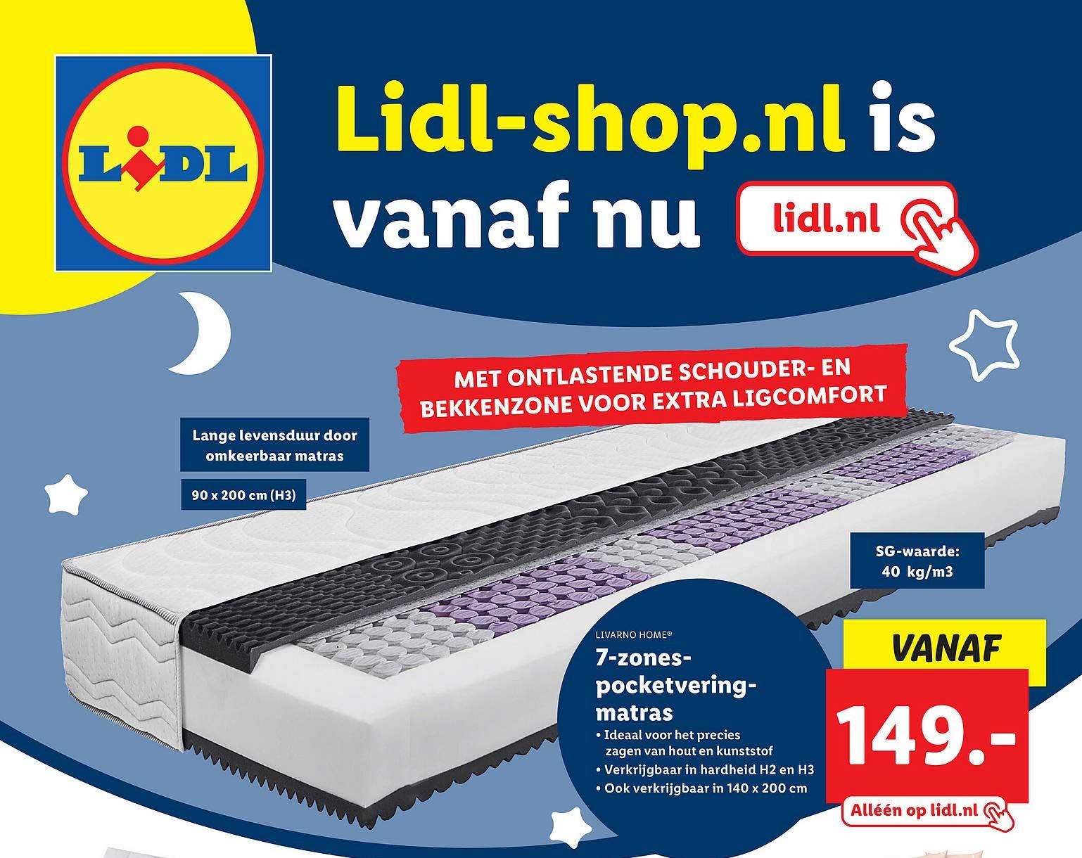 Lidl Shop Livarno Home® 7-Zones-Pocketveringmatras