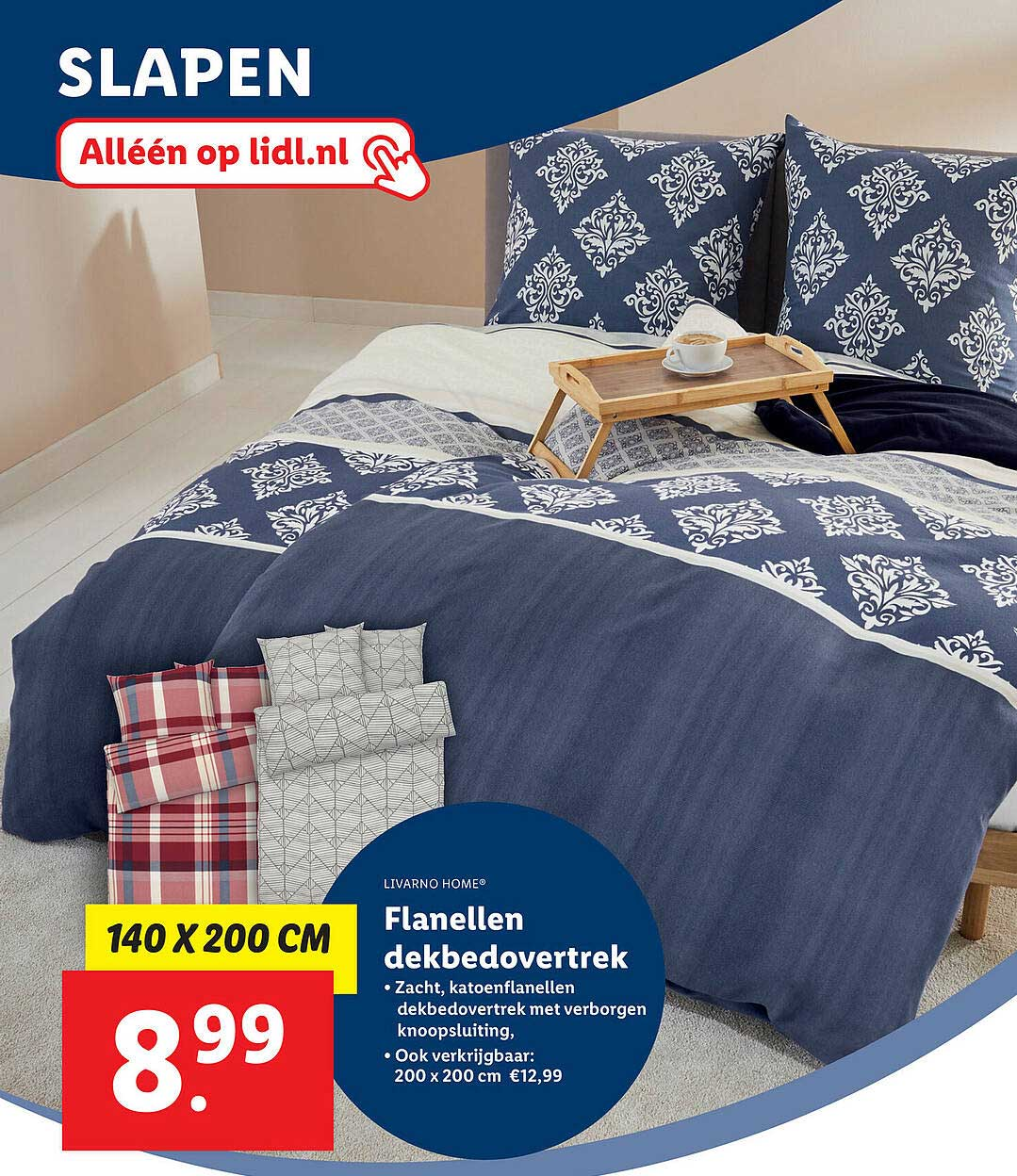 Lidl Shop Livarno Home® Flanellen Dekbedovertrek