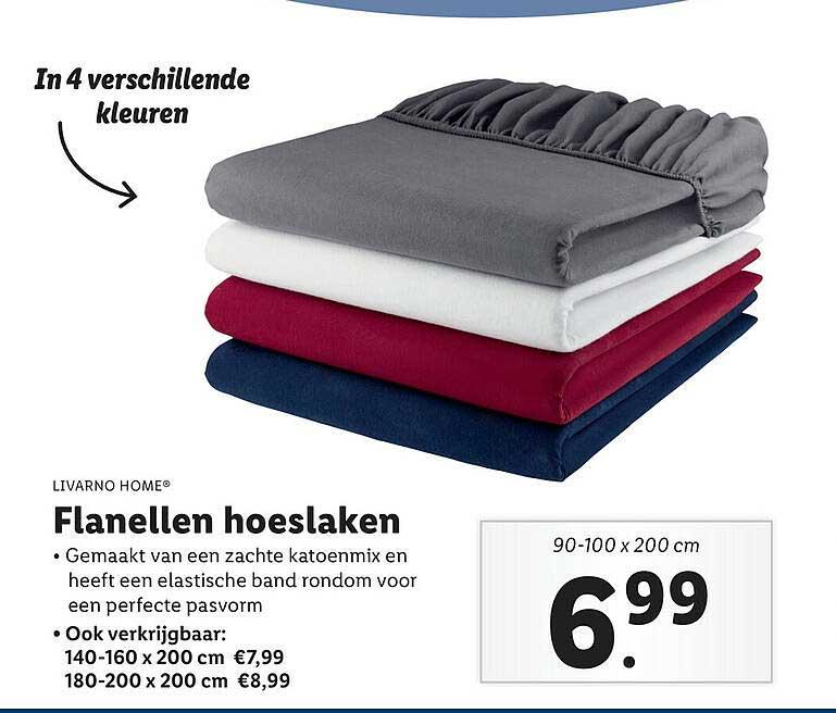 Lidl Shop Livarno Home® Flanellen Hoeslaken