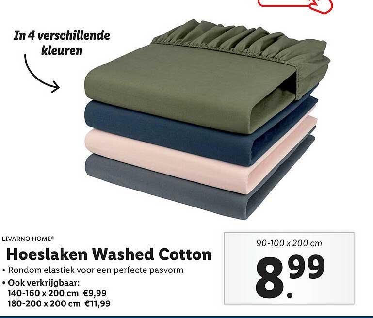 Lidl Shop Livarno Home® Hoeslaken Washed Cotton