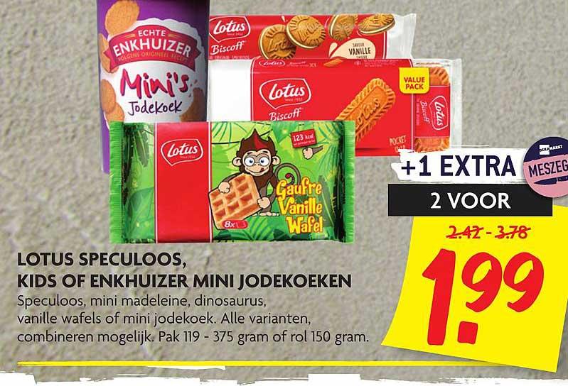 DekaMarkt Lotus Speculoos, Kids Of Enkhuizer Mini Jodekoeken