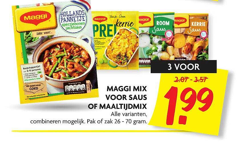 DekaMarkt Maggi Mix Voor Saus Of Maaltijdmix