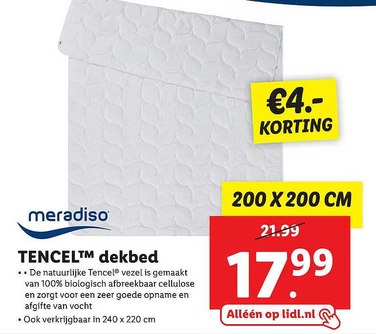Lidl Shop Meradiso Tencel™ Dekbed €4.- Korting