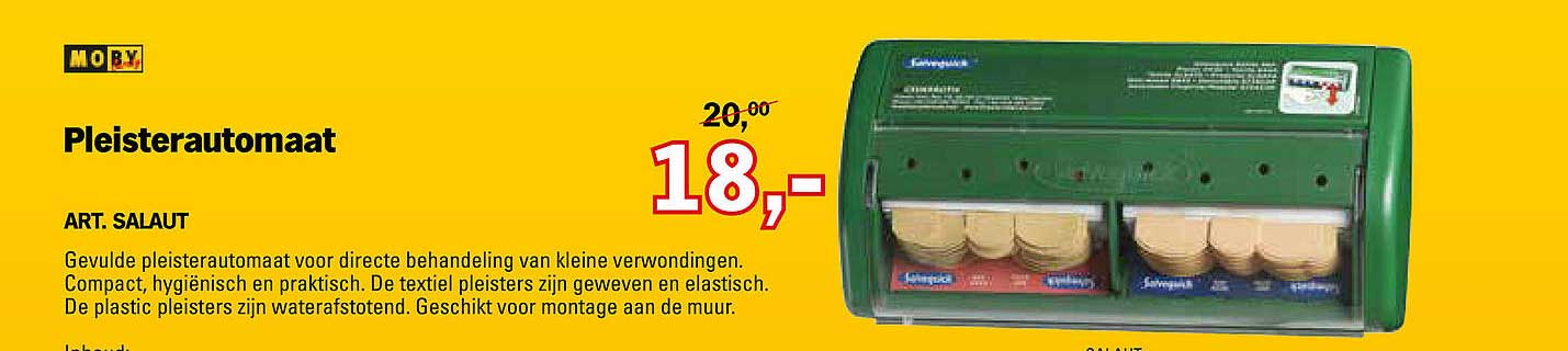 Toolspecial Moby Pleisterautomaat