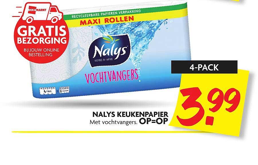 DekaMarkt Nalys Keukenpapier Met Vochtvangers