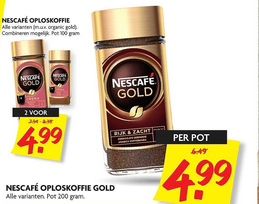 DekaMarkt Nescafé Oploskoffie Gold