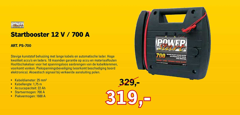 Toolspecial Power Start Startbooster 12 V - 700 A