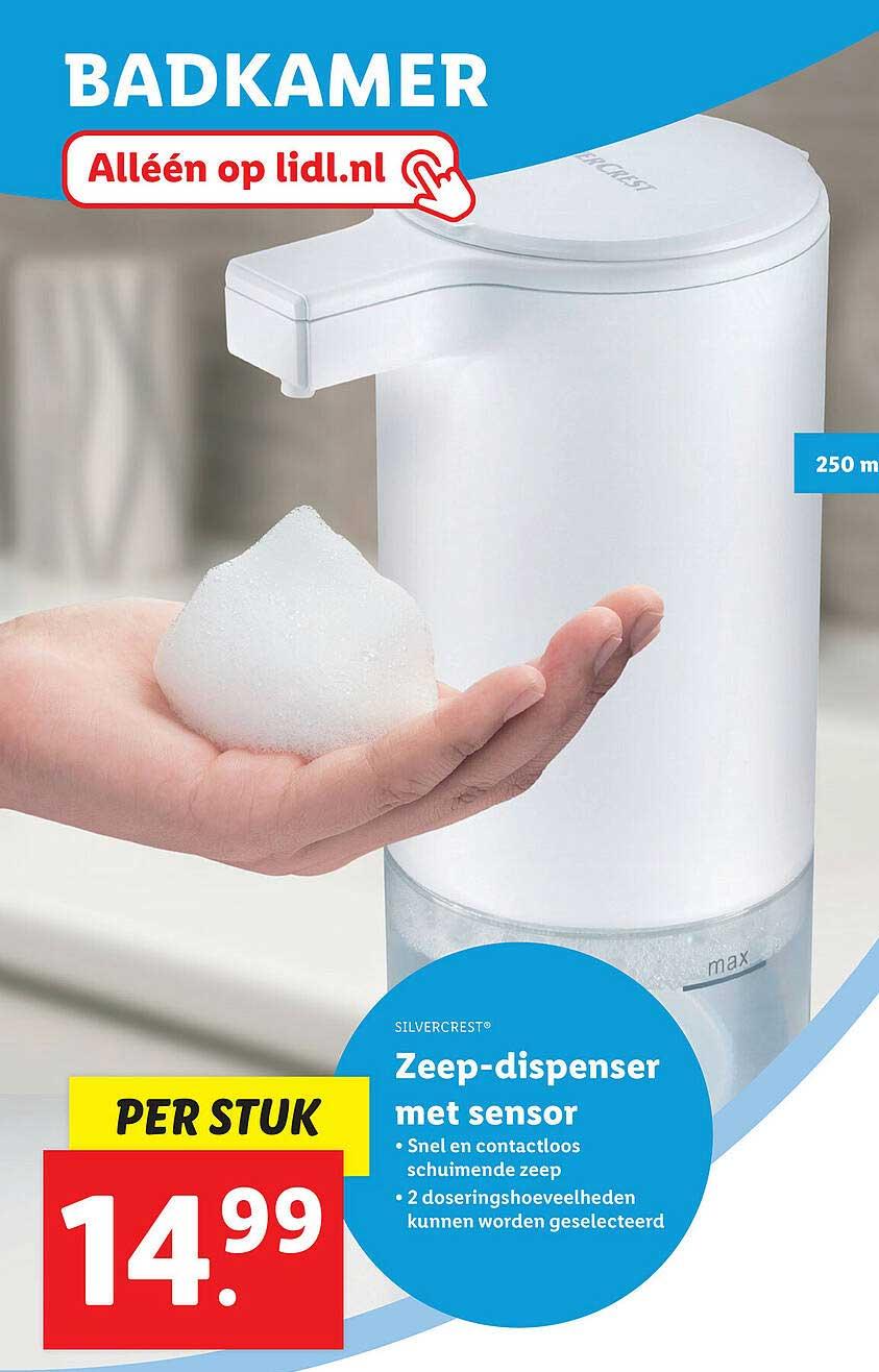 Lidl Shop Silvercrest® Zeep-Dispenser Met Sensor