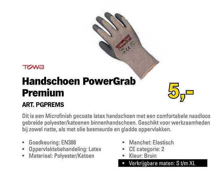 Toolspecial Towa Handschoen PowerGrab Premium