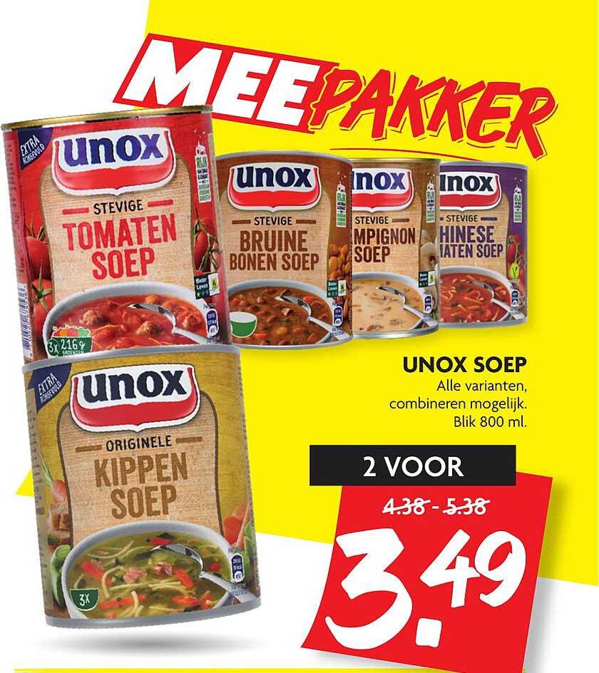 DekaMarkt Unox Soep